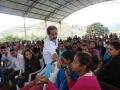 Bandeira - alunos da E.E. João dos Santos Amaral participam ativamente