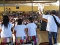 Jordania - Quadra da Escola Estadual de Jordânia lotada pelos alunos